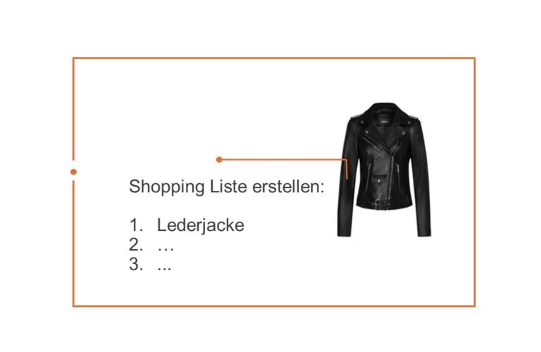 Shopping Liste definieren